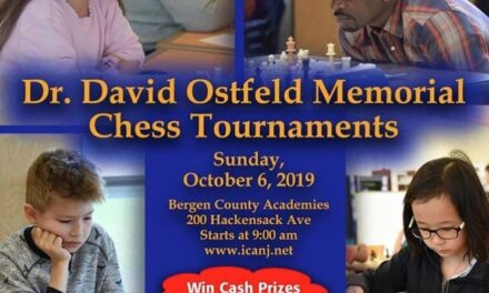 2019 Dr David Ostfeld Memorial Chess Tournaments